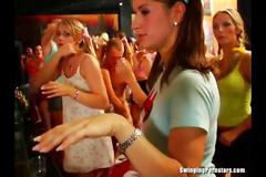 Sexy chicks dancing and fucking in club