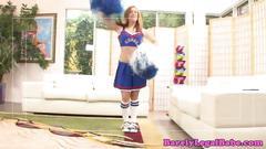 blowjob, cheerleader, creampie, redhair, redhead