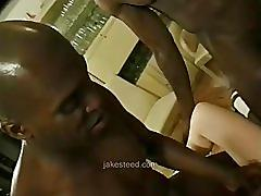 Interracial gangbang - blacks on blonde
