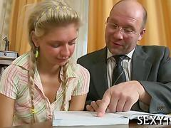 Tutor figures at least this teen blonde can fuck like crazy