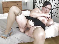 big tits, solo, saggy tits, masturbation, dildo, hairy pussy, bbw mature, nipples licking, mature nl, stefanka c.