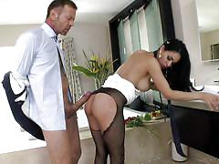 bathroom, babe, rocco siffredi, stockings, busty, fingering, brunette, big dick, dick sucking, rocco siffredi, fame digital, jasmine caro, rocco siffredi, adriana chechik