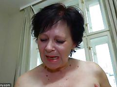 hairy, strapon, lesbians, babe, mature, saggy tits, brunette, old nanny, old nanny, karla x