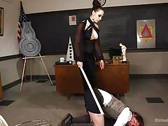 milf, femdom, spanking, mistress, whipping, busty, blindfolded, bondage cage, divine bitches, kink, chanel preston, grayson