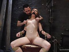 bdsm, hairy, babe, tied, domination, tattooed, submission, ball gag, electric wand, sex and submission, kink, tommy pistol, nickey huntsman