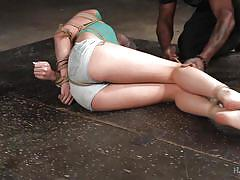babe, ebony, tied, breath play, plastic bag, rope bondage, hard tied, jack hammerx, kacy lane