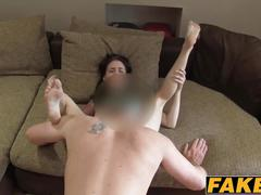 Adorable hottie anna gets banged roughly on fake sex casting