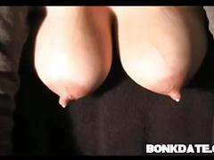 Big lactating boobs dripping milk