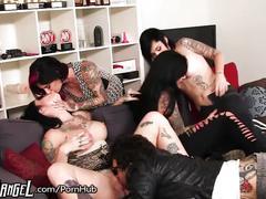 brunette, anal, gangbang, pussy licking, petite, joannaangel, group-fuck, tattoo, ass-fuck, natural-tits, punk, tattoos, big-tits, pussy-licking, pussy-eating, group-sex, anal-sex, handjob, cumshot, cumswap