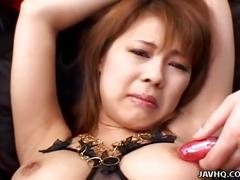Asian bitch getting her wet pussy toy plowed