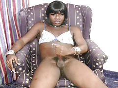 Black t-babe lets staggering jizz came out
