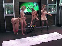 blonde, interview, playboy, busty, babes, naked, sex games, playboy morning show, morning show, playboy tv, andrea lowell