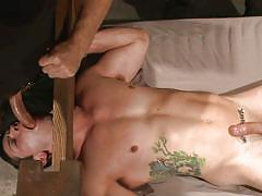gay bdsm, gays, gay blowjob, gay domination, device bondage, torture, hot wax, anal finger, 30 minutes of torment, kink men, reed jameson