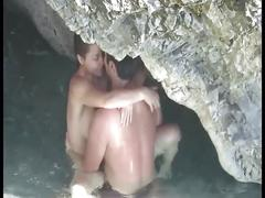 Couple caught fucking on beach