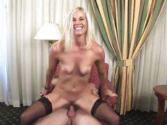 Anal for blonde milf in stockings (top milf)