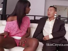 Ana fox loves asian cock