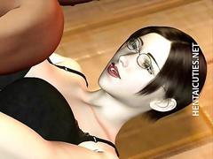 3d anime slut eat two big black dicks