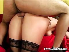 blowjob, mature, ass, blonde, cougar, milf, riding