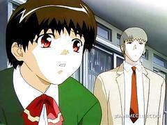 Innocent anime girl seducing her horny teacher film