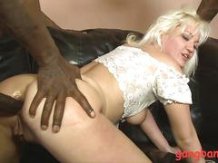 Slutty blond whitney grace double fucked by black cocks