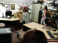 Busty latina banged by nasty pawn dude in his pawnshop