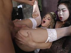 Gorgeous blonde cayenne klein fucked hard by rocco