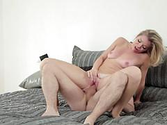 trisha parks, blowjob, riding, cumshot, facial, blonde, reverse cowgirl, cowgirl, pigtails, spooning, sucking