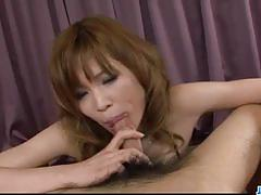 Amateur babe gobbles down this hard cock