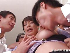 milf, nylon, gangbang, busty, japanese teacher, boobs groping, jp teacher, all japanese pass, nao mizuki