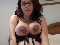 amateur, big natural tits, brunettes, lingerie, masturbation