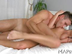 Big ass brunette bounces like crazy on the pecker