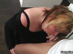 Busty bbw slut takes it from behind