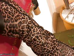 Tropical long haired t-girl plays with her shemale dick