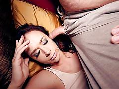 milf, big tits, brunette, hairy pussy, sniffing, bskow, tommy pistol, chanel preston