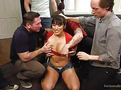 big ass, big tits, interracial, asian, gangbang, undressing, brunette milf, deepthroat blowjob, boobs groping, hardcore gangbang, kink, bill bailey, john strong, mr. pete, owen gray, karlo karrera, mia li