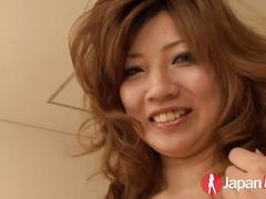 Natural japanese vibrator masturbation