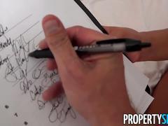 Propertysex - beautiful agent fucks home owner for signature