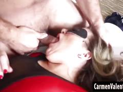 Cosplay slut carmen valentina gets a hard fuck!