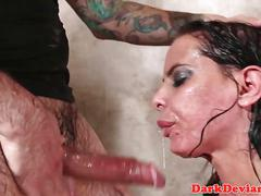 Showering sub dominated with doggystyle