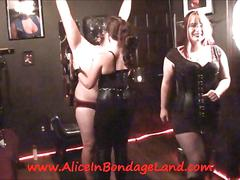 Nipple pinching cbt femdom mistress humiliation bondage threesome