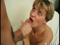French mom gets anal fucked by a young man