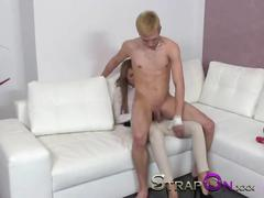 Strapon gina devine fuck a 18 year old guy in the ass