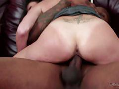 Dava foxx takes a black cock in front of her husband