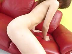 Amateur brunette plays with her warm pussy