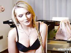 Blonde model jemma valentine has hardcore dp