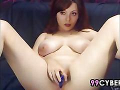 amateur, big boobs, masturbation, webcam, big tits, dildo, redhead, solo, toy