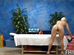 Platinum blonde has a hot massage she really enjoys