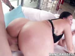 Chunky and busty brunette babe alison tyler gets deep anal