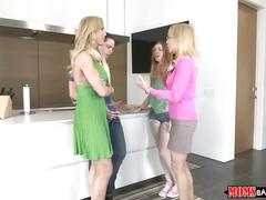 Moms bang teen -mom and daughter share