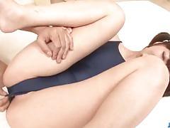 Horny brunette dildo gets her pussy dildo fucked